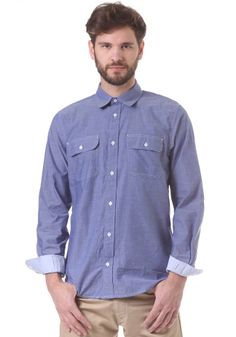 #planetsports CARHARTT - Moder L/S Shirt blue penny/aster blue rinsed