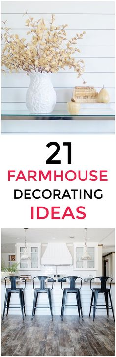 21 simple farmhouse ideas for decorating your home. Inexpensive ideas (some of which you could add in five minutes) and clever ways to make a home feel even cozier.