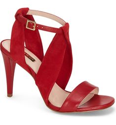 Louise et Cie Kalkin Sandal (Women) | Nordstrom Suede Leather, Black Leather, Red High Heels, Chanel Classic Flap, Leather Ballet Flats, Strappy Sandals, Ankle Strap, Stiletto Heels, Bootie Boots