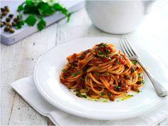 Spaghetti Puttanesca #pasta #tomato #cirio #recipe