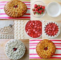 Delicious and Tempting Strawberry Heart Pie - http://www.stylishboard.com/delicious-tempting-strawberry-heart-pie/