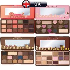 Too Faced Semi Sweet Peach / Chocolate Bar / Bon Bons Eyeshadow Palettes Makeup