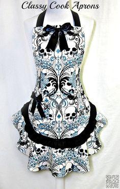 17. les #crânes en bleu et noir - 26 tabliers #fantastiques pour vous faire…
