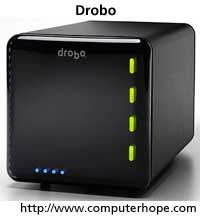 Google Image Result for http://cdn.computerhope.com/drobo.jpg  This is a storage device for your computer. It's where all the things like documents and information are stored.