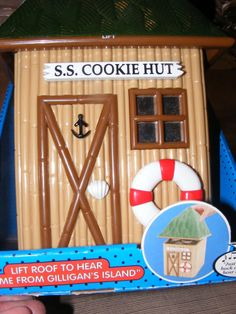 Gilligans Island Themed S.S. Cookie Hut Musical Cookie Jar