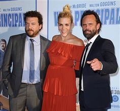 Danny McBride, Busy Philipps and Walton Goggins attend the premiere of 'Vice Principals' at Avalon Hollywood on July 7, 2016 in Los Angeles, California.