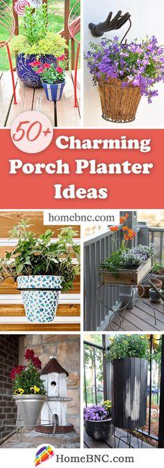 Porch Planter Designs Porch Planter, Planters, Planter Ideas, Outdoor Plants, Outdoor Spaces, Coastal Gardens, Garden Crafts, Home Decor Inspiration, Cool Designs