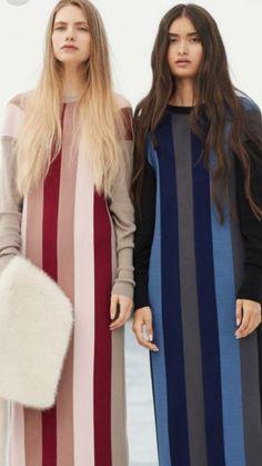 Knitwear Fashion, Women's Fashion, Fashion Trends, Textile Design, Sewing Ideas, Burberry, Fabrics, Stripes, Textiles