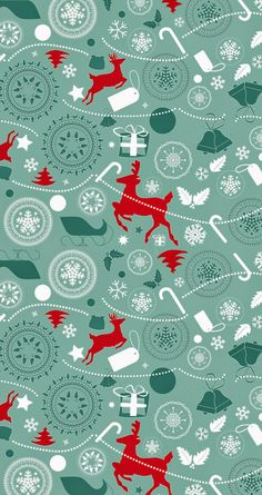 Reindeer pattern. Tap image for more iPhone 6 Christmas Pattern Background Wallpapers! Christmas trees wallpaper - @mobile9 | #christmas #winter