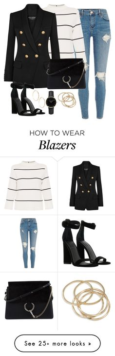 """""""Untitled #3396"""" by theaverageauburn on Polyvore featuring L.K.Bennett, Balmain, Kendall + Kylie, Chloé, ROSEFIELD, ABS by Allen Schwartz and GUESS by Marciano"""