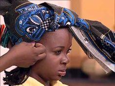 Dina Simão ensina  amarrar turbantes   Sexto Sentido   TV Zimbo  