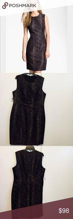 NWT Louben python Jacquard sheath dress, size 10 NWT Louben python Jacquard Sheath dress. Beautifully tailored sheath, size 10, black zip closure, fully lined, acrylic/wool/ polyethylene, dry clean, imported dress. Louben  Dresses