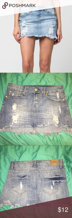 ZCO Jean skirt from Tilly's Jean skirt by ZCO jeans premium from Tilly's. Super cute and fun for summer. Only worn a couple times. 99% cotton, 1% spandex. ZCO Skirts Mini