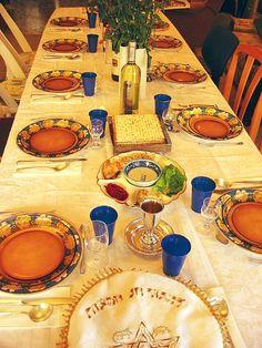 Passover seder.