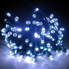 Amazon.com: AGPtek® 17m Waterproof 100 LED Solar Fairy Lights (White) Garden Xmas Party: Patio, Lawn & Garden