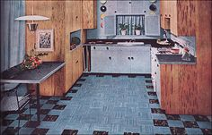 1950s Mid Century Kitchen Design | by American Vintage Home