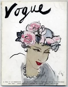 Vogue Paris, May 1950  | Illustration by Car Erickson....love to put this on my desk!!!!!!