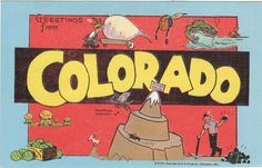 Greetings from Colorado Vintage Big Letter by PicturesFromThePast