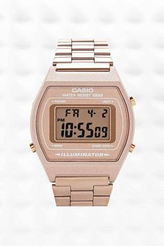 Casio Digital Watch in Bronze, by Urban Outfitters, £50: http://fave.co/1uwrTv0