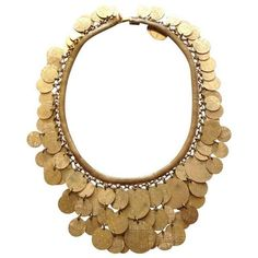 Vintage Christian Dior Gold Tone Coin Necklace (9 105 ZAR) ❤ liked on Polyvore featuring jewelry, necklaces, accessories, collier, dior, vintage coin jewelry, vintage gold jewelry, gold tone necklace, gold colored necklace and vintage jewelry