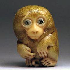 It's Cold. The Monkey netsuke.