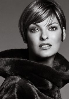Linda Evangelista (born May 10, 1965) is a Canadian model. She has been featured on over 600 magazine covers. Evangelista is mostly known for being the longtime muse of photographer Steven Meisel,