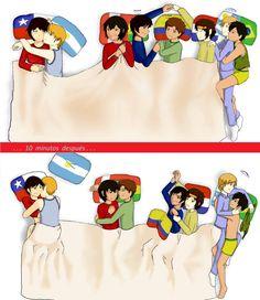 Sleep Over With The Latino S Latin Hetalia Sleepover Argentina Latina Deviantart