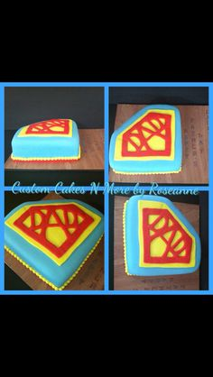 Super Dad Themed Cake