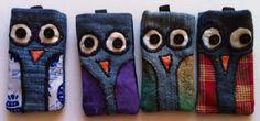 owl cellphone pouch
