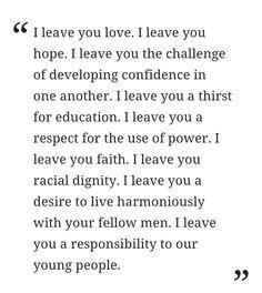 From Mary McCleod Bethune