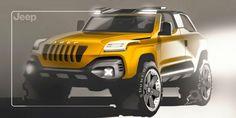 Jeep Concept Design Sketch by Alex Suvorov
