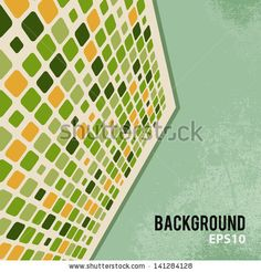 Abstract retro background with mosaic elements by Chuhail, via ShutterStock