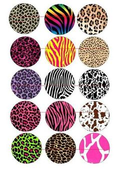 Free Printable Bottle Cap | Free Stuff: ANIMAL PRINT BOTTLE CAP IMAGES EMAILED TRUSTED SELLER ...