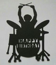 4 Silhouette Rock Drummer Happy Birthday toppers card making Male Boy Birthday Happy Birthday Drums, Happy Birthday Wishes For Her, Birthday Images For Her, Birthday Posts, Happy Birthday Pictures, Happy Birthday Greetings, Birthday Messages, Happy Birthday Quotes, Man Birthday