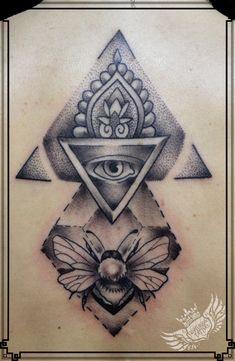 geometric dotwork gothic tattoo centuriontattoo