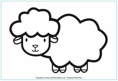sheep coloring page free online printable coloring pages, sheets for kids. Get the latest free sheep coloring page images, favorite coloring pages to print online by ONLY COLORING PAGES. Farm Animal Coloring Pages, Cute Coloring Pages, Coloring Pages For Kids, Sheep Crafts, Farm Crafts, Preschool Crafts, Vbs Crafts, Hibiscus, Sheep Face