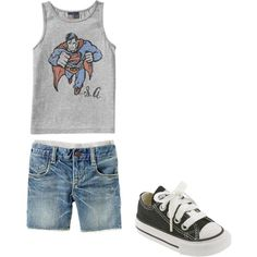 """Baby Boy Fashion!"" by jazminmarie on Polyvore With the summer heat I don't like putting a lot of layers on my boys,, so something like this is perfect! check out @calikidstyle101 on instagram for more cute outfits. kids fashion"