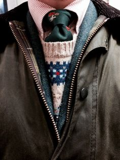 brantpointprep:Barbour, tweed, and fair isle. Preparation for the cold rainy days.