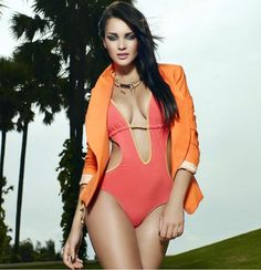 Amy Jacksons hot bikini look for The Man's magazine. #Bollywood #Fashion