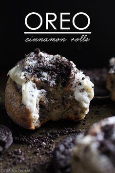 Oreo Cinnamon Rolls | Everyone's favorite breakfast treat gets dressed up with Oreos! Via Club Narwhal
