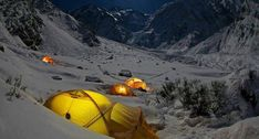 Tips for camping in the snow.