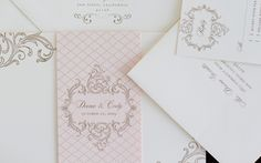Pretty, vintage style invitations