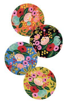 Rifle Paper Co. Floral Coaster Set, all prints Floral Illustrations, Illustration Art, Posca Art, Rifle Paper Co, Motif Floral, Pottery Painting, Coaster Set, Diy Art, Flower Art