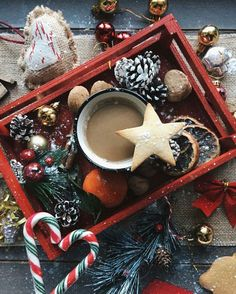 Новый год, декор, украшение, праздник, кофе