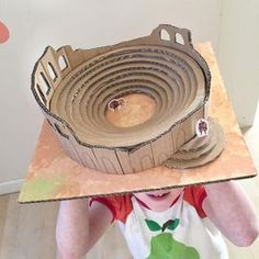 Craft / Building A Roman Amphitheatre – Clara and Macy Rome History, Blue Peter, Visual And Performing Arts, Making A Model, Roman Art, Building For Kids, Art N Craft, Greek Art, School Projects