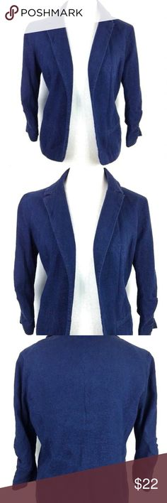 """French Connection Women's Linen jacket Medium French Connection linen-blend jacket Size Medium 17"""" armpit to armpit 15.5"""" flat lay waist 22"""" center of back under collar to bottom length No holes, stains or visible wear French Connection Jackets & Coats Blazers"""