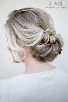 low bun wedding hairstyles - bridal chignon with haircomb Wedding Hair And Makeup, Wedding Updo, Hair Makeup, Chic Wedding, Trendy Wedding, Green Wedding, Rustic Wedding Hair, Low Bun Bridal Hair, Wedding Shoes