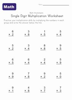 multiplication worksheets multiplying two digit by one digit numbers math multiplication. Black Bedroom Furniture Sets. Home Design Ideas