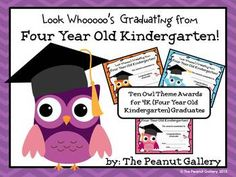 First Grade Graduation Certificates (Owl Theme) Pre K Graduation, Kindergarten Graduation, Kindergarten Fun, Graduation Ideas, Owl Preschool, Preschool Classroom, Classroom Teacher, Owl Theme Classroom, Classroom Ideas