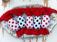 Dots, drops, circles... and other red things:))) by Yvette on Etsy